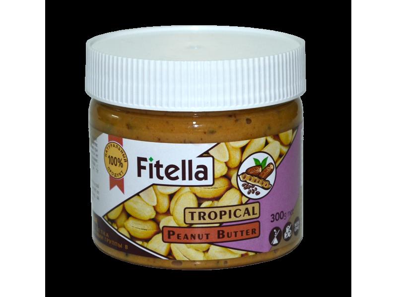 Арахисовая паста тропическая 300 г Fitella фителла