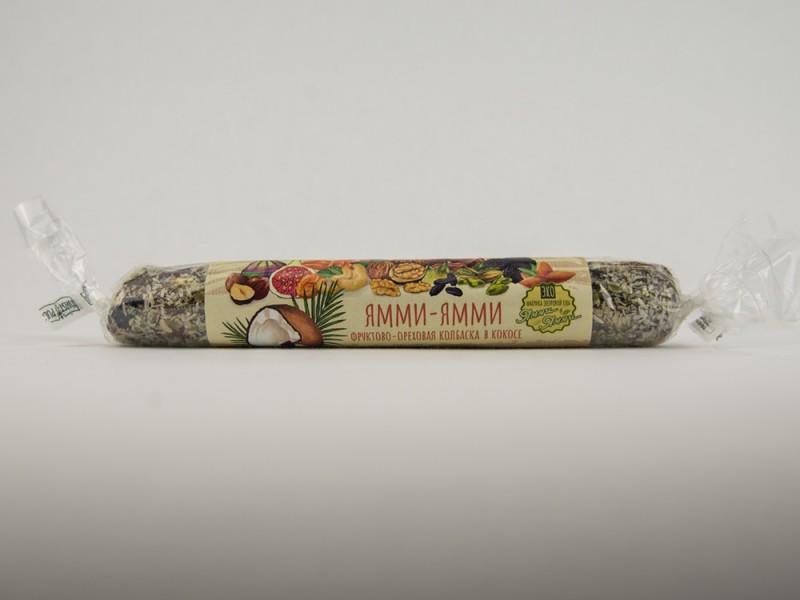 Колбаска фруктово ореховая с Кокосом 350 г Ямми Ямми