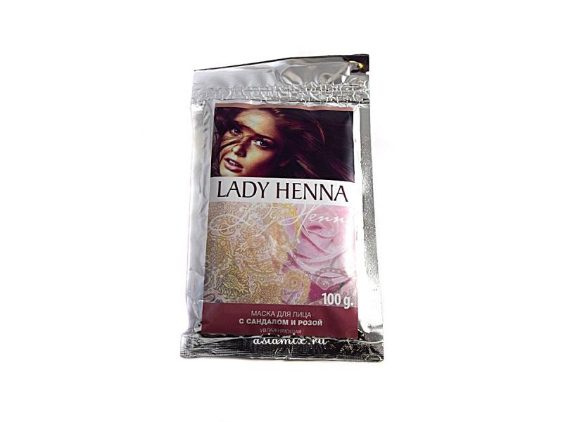 Маска для лица с сандалом и розой 100 г Леди Хенна