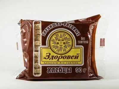 Хлебцы гречишно рисовые 90 г Здоровей