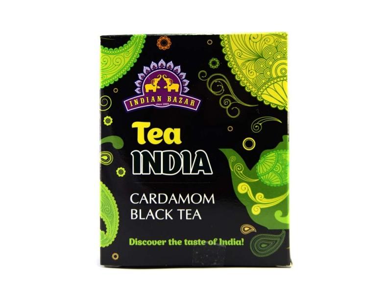 Чай черный с кардамоном  200г INDIAN BAZAR коробка