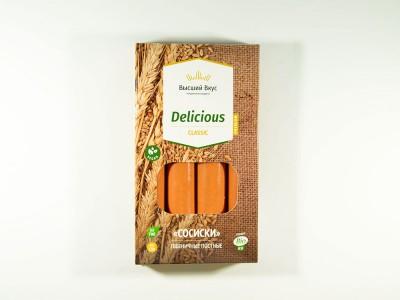 Сосиски пшеничные Dilicious 200 г Высший Вкус