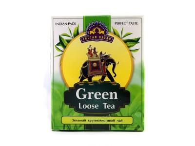 Чай зеленый крупнолистовой 200 г INDIAN BAZAR коробка
