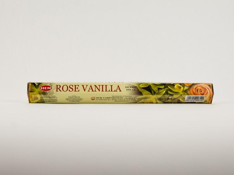 Аромапалочки HEM ROSE VANILLA Ваниль роза Хем