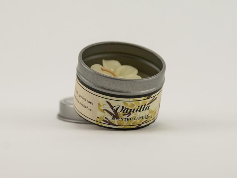 Свеча ароматическая в баночке 5 см Ваниль