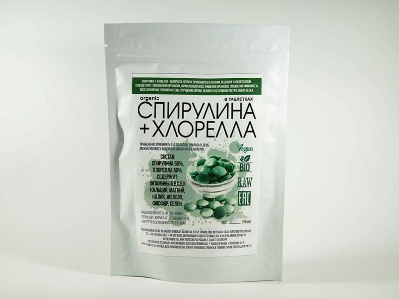 Спирулина хлорелла в таблетках 50 г