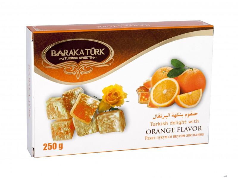 Рахат Лукум Апельсин 250гр Baraka Turk