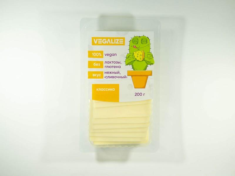Продукт плавленый Веганский Классика со вкусом сыра нарезка 200 г VEGALIZE