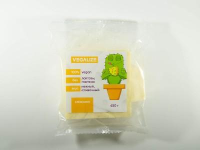 Продукт плавленый Веганский Классика со вкусом сыра 450 г VEGALIZE
