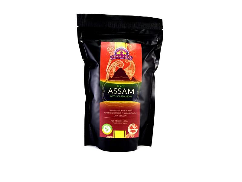 Чай ассам с кардамоном  100г INDIAN BAZAR