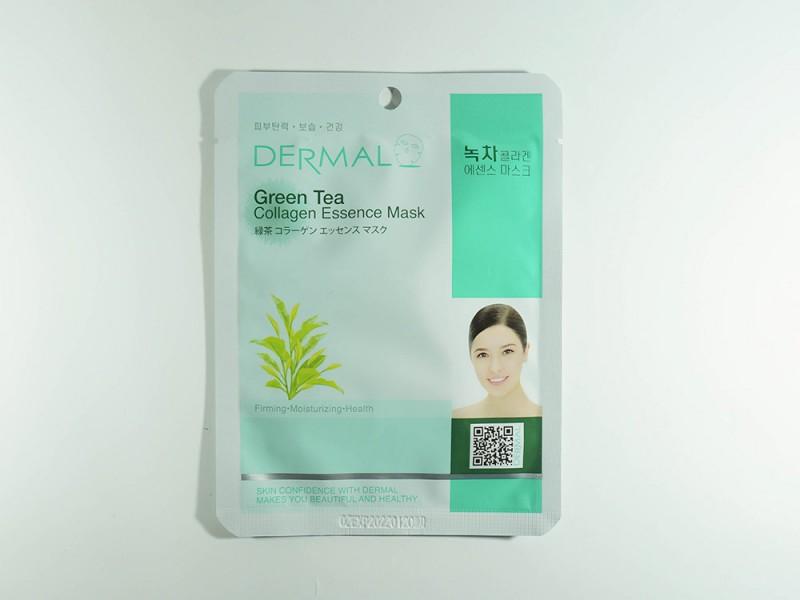 Маска для лица Зеленый чай и коллаген 23 г Dermal