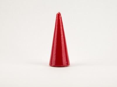 Свеча конус 15 см красная