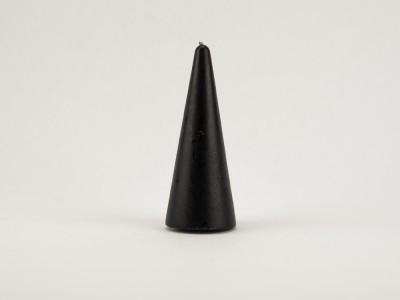 Свеча конус 15 см черная