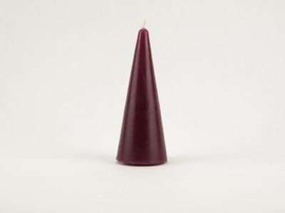 Свеча Конус 15 см баклажан