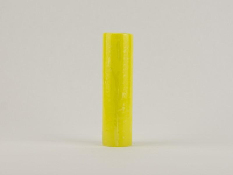 Свеча столбик 15 см канареечная