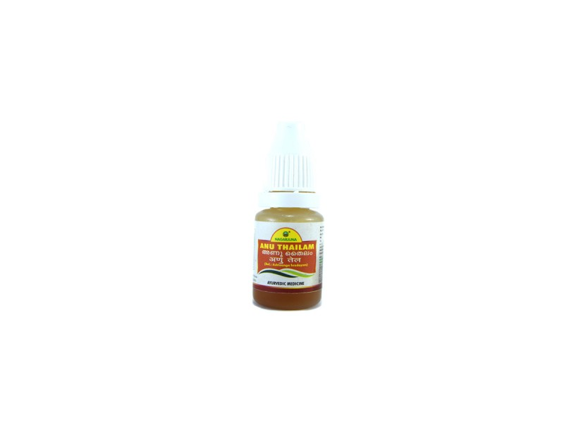 Аюрведическое масло для носа ану тайлам anu thailam 10 мл бут. пласт. nagarjuna