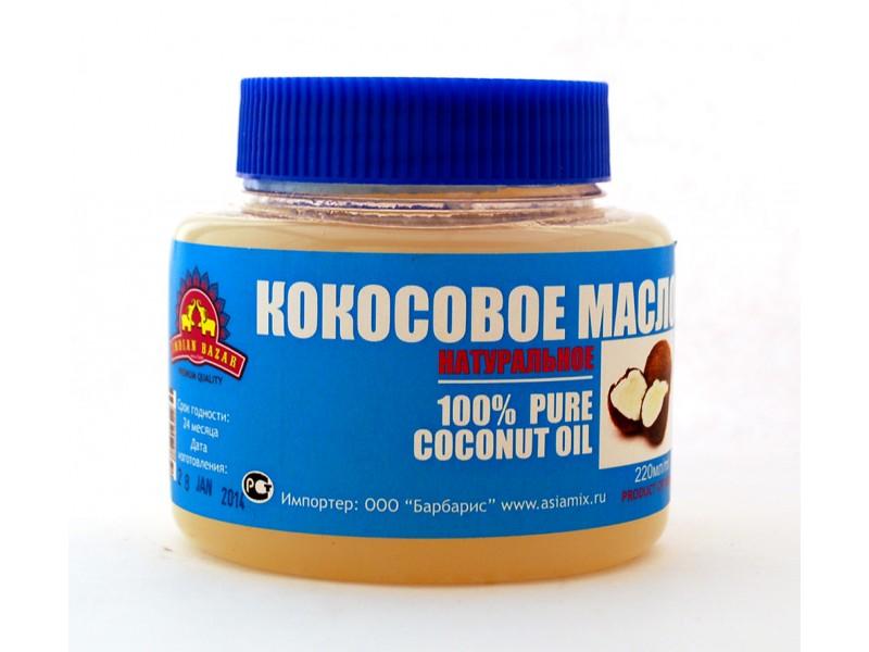 Масло кокосовое 220мл  INDIAN BAZAR
