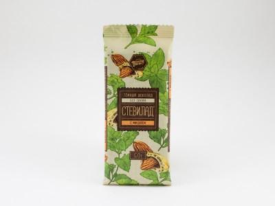 Шоколад темный СТЕВИЛАД с миндалем 50 г
