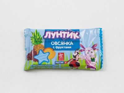 Батончик в молочной глазури овсянка с фруктами ЛУНТИК 40г