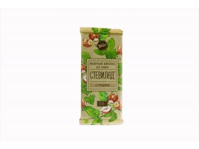 Шоколад молочный СТЕВИЛАД с фундуком 100 г