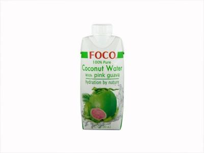 Кокосовая вода с розовой гуавой 330 мл FOCO тетра-пак