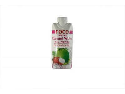Кокосовая вода с соком личи 330 мл FOCO тетра-пак