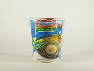 Лапша индонезийская Ми Горенг жареная со вккусом курицы барбекю 75 г INDOMIE стакан