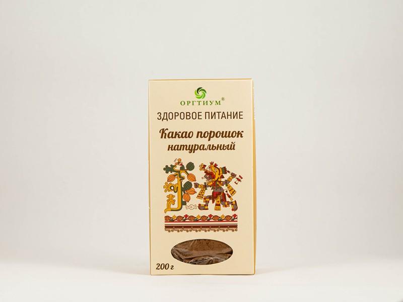 Какао порошок натуральный 200 г Оргтиум