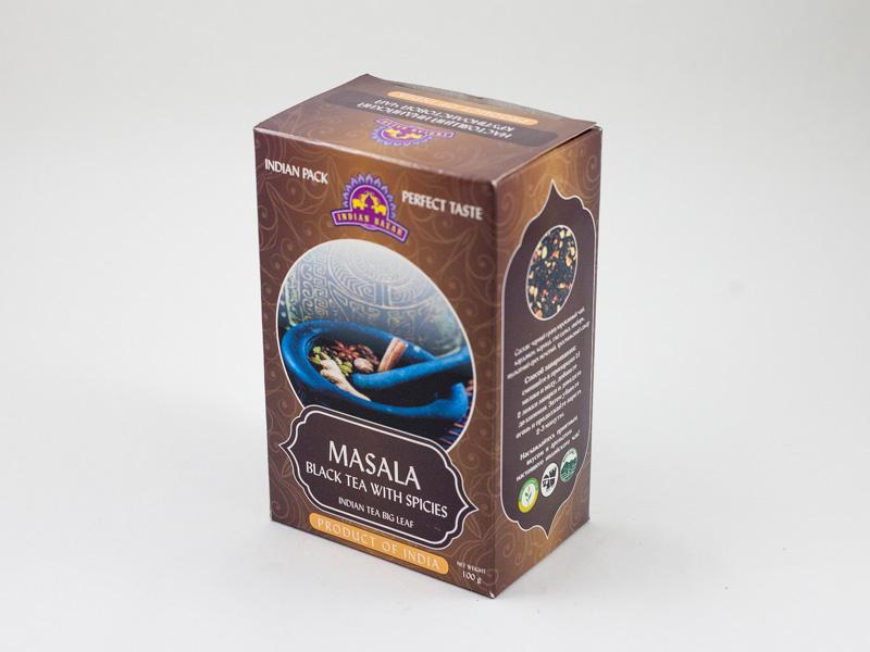 Чай Масала крупнолистовой 100г INDIAN BAZAR коробка