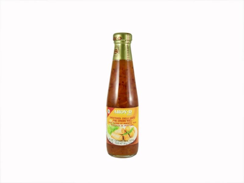 Соус сладкий  чили  для спринг роллов  AROY-D 360г ст/б