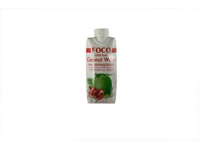 Кокосовая вода с соком граната 330 мл FOCO тетра-пак