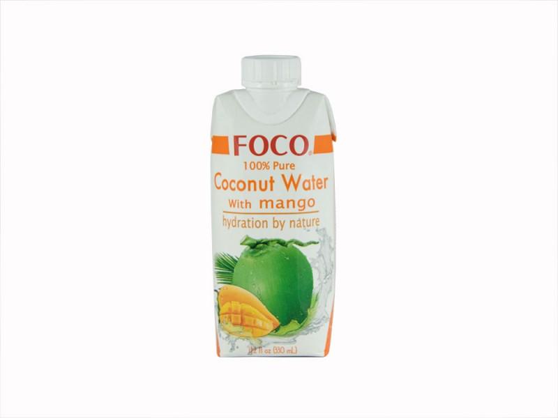 Кокосовая вода с соком манго 330 мл FOCO тетра-пак