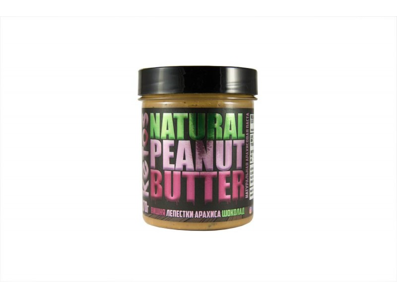 Арахисовая паста Natural Peanut Butter WILD CHERRY 170 г Кетос