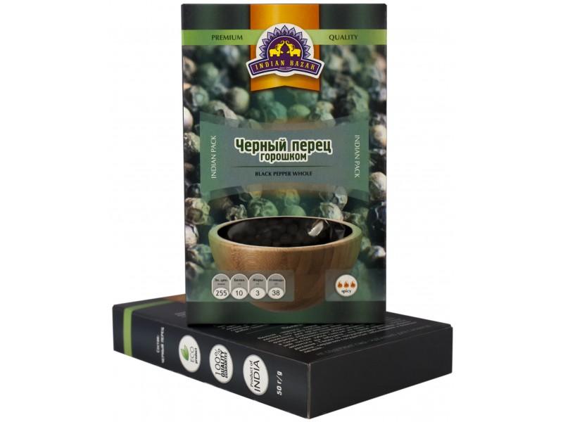 Перец черный горошек 50 г INDIAN BAZAR коробка