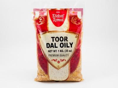 Горох Тур Дал Toor Dall Oily 1 кг Kitchen Xpress