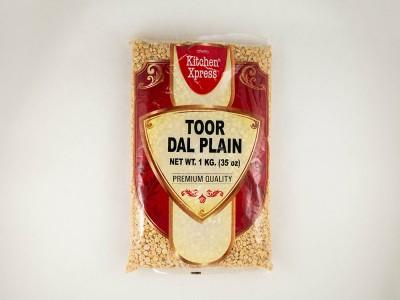 Горох Тур Дал Toor Dall Plain 1 кг Kitchen Xpress