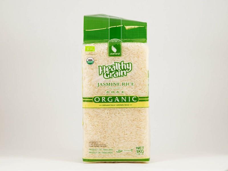 Рис белый тайский органический жасмин 1кг Sawat-D