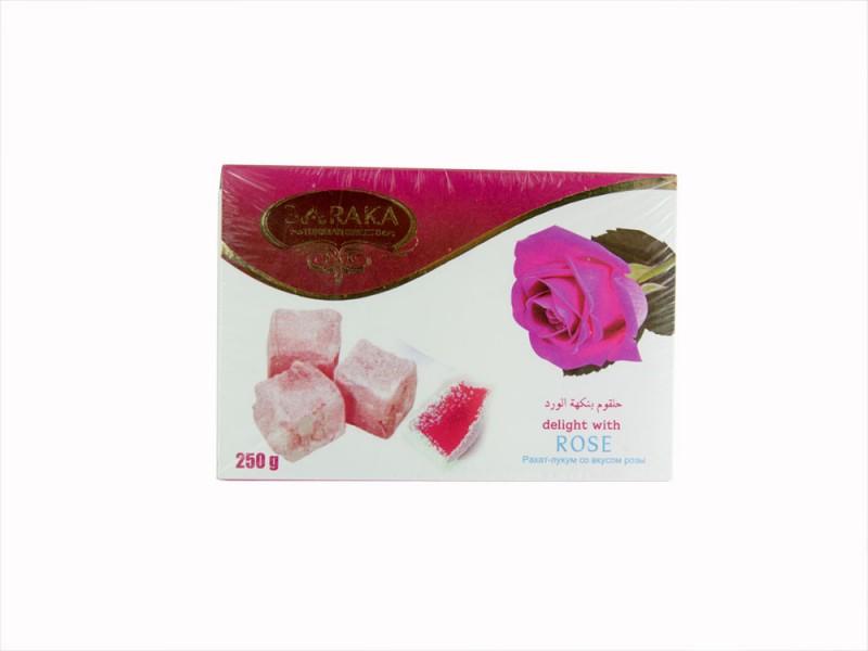 Рахат Лукум Роза 250гр Baraka Turk