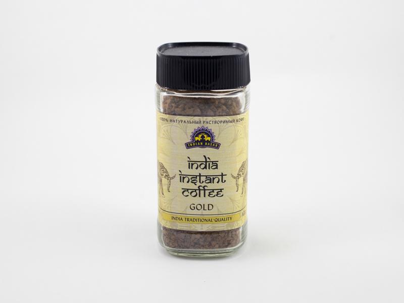 Кофе индийский GOLD растворимый 100 г INDIAN BAZAR