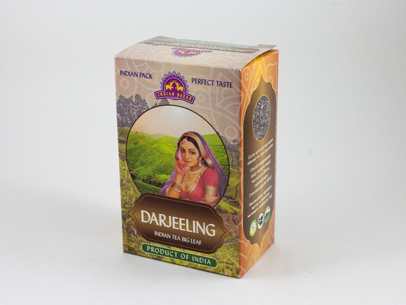 Чай Дарджилинг черный  100г INDIAN BAZAR коробка