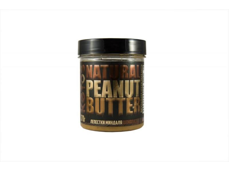 Арахисовая паста Natural Peanut Butter CHOCO ALMOND 170 г Кетос