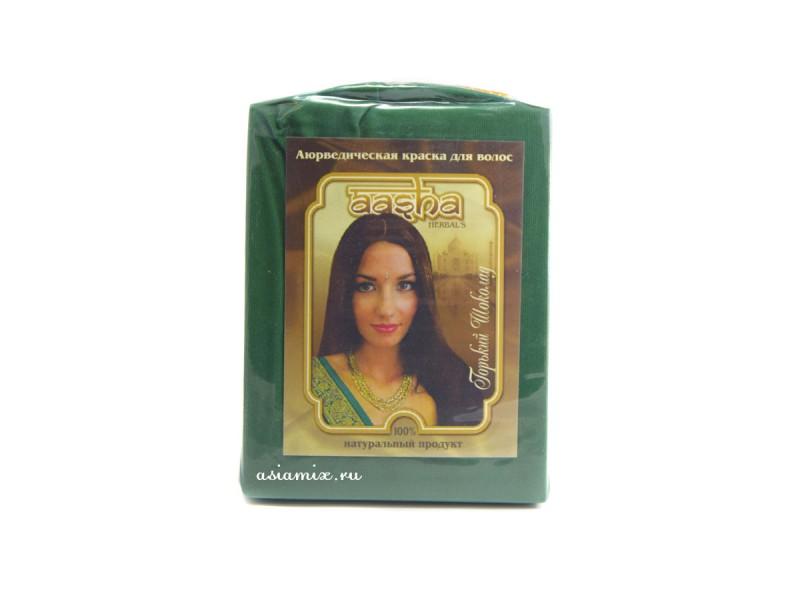 Краска для волос Горький шоколад 100г Ааша Хербалс