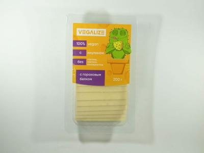 Продукт плавленый Веганский со вкусом сыра нарезка 200 г VEGALIZE