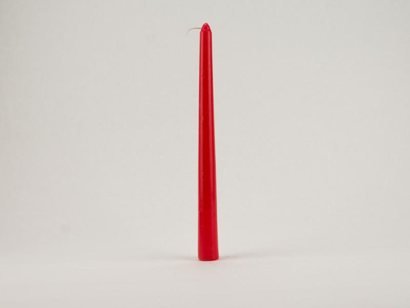 Свеча Коническая 25 см красная